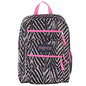 JanSport Big Student Classics Series Backpack - Grey Tar Wild At Heart