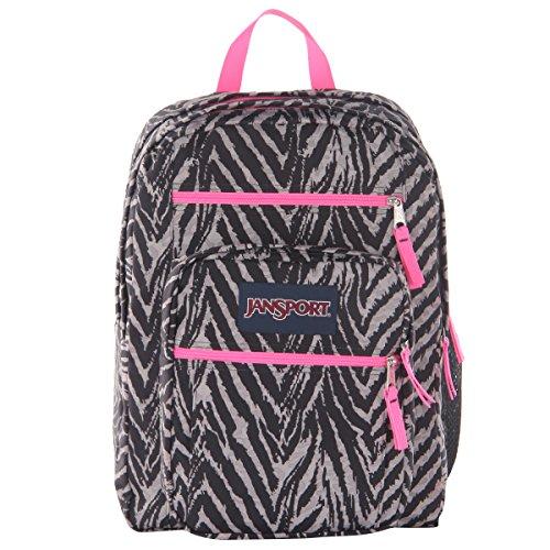 JanSport Big Student Classics Series Backpack - Grey Tar Wild At (Big Zebra)