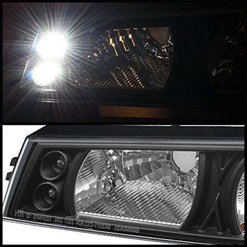 2004-2012 GMC Canyon//Colorado Chrome LED Halo Projector Headlights