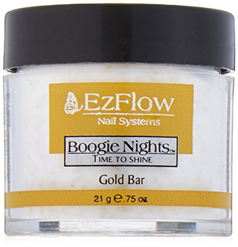 EZ Flow Time To Shine Glitter False Nails, Gold Bar, 0.75 Ounce