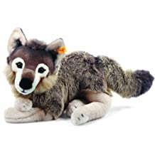 Steiff Snorry Dangling Wolf, Grey/Brown Plush Animal