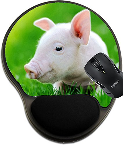 MSD Mousepad Wrist Protected Mouse Pads/Mat with Wrist Support Young Pig on a Spring Green Grass Image 37413597 Customized Tablemats Stain Resistance Collector Kit Kitchen Table Top DeskDrink Customi