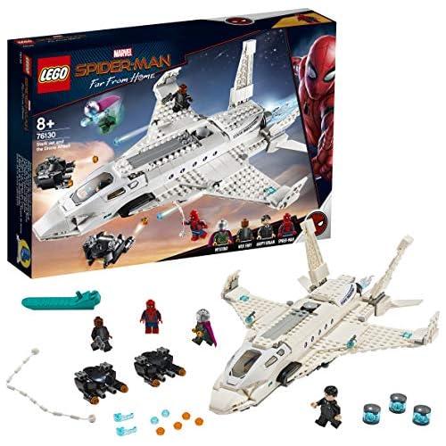 chollos oferta descuentos barato LEGO Super Heroes Jet Stark y el Ataque del Dron Set de Construcción de Avión de Juguete de Aventuras de Sp