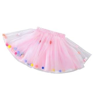 YeahiBaby Bambini Gonna Tutu Bella midigonna Rosa colorato Fuzzy gonne di Garza gonne Principessa Costumi per Ragazze (Taglia l)
