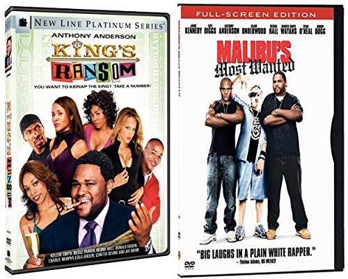 Anthony Anderson & Regina Hall Comedy Collection: King's Ransom & Malibu's Most Wanted (DVD Bundle/ 2 Feature Films) Blackish Snoop Dogg