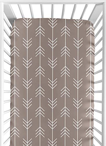 - Fitted Crib Sheet for Outdoor Adventure Baby/Toddler Bedding - Arrow Print