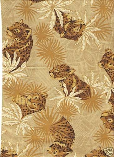Fat Quarter Jungle, Leoparden-Muster, Baumwolle, 50 x 55 cm Henry Glass 1515