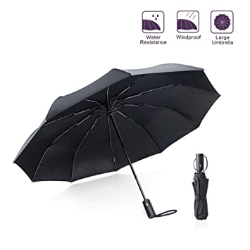 Paraguas Plegables,Enshant Paraguas Plegable Paraguas Automático Hombre Paraguas de Viaje contra el Viento,