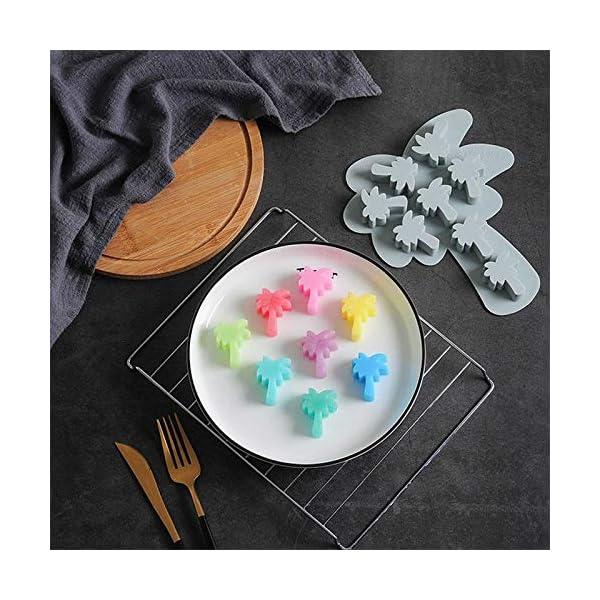 UMTGE - Vaschetta per cubetti di ghiaccio, in silicone e flessibile, 8 vassoi per ghiaccio, per bambini, con caramelle… 7 spesavip
