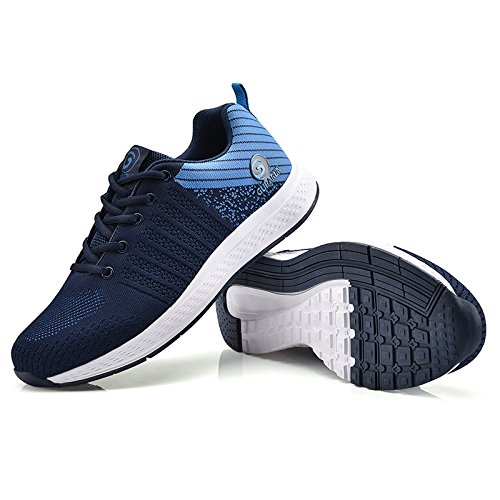 Tennis GUBARUN shoes Running Sport Blue Lace Mesh up Casual Men Lightweight Shoes Dark Sky Women Blue Walking Sneakers Athletic wwqOrE5