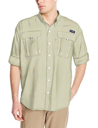 Columbia Mens Super Bahama Long Sleeve Shirt, Sunlit Mini Check, Medium