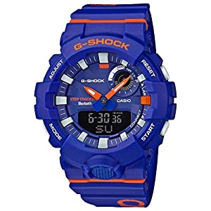 51Hitu45iNL. SS300  - G-SHOCK Analog-Digital Step Tracker Blue Dial Men's Watch GBA800DG-2A