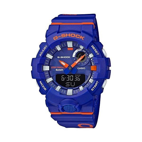 51Hitu45iNL. SS600  - G-SHOCK Analog-Digital Step Tracker Blue Dial Men's Watch GBA800DG-2A