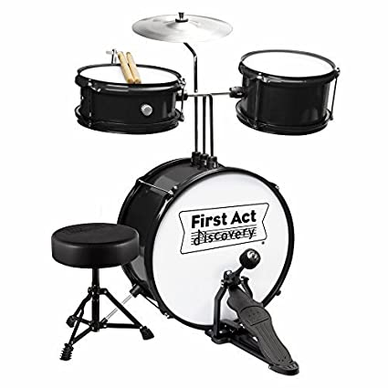 Amazon Com First Act Discovery Junior Drum Set Black Musical