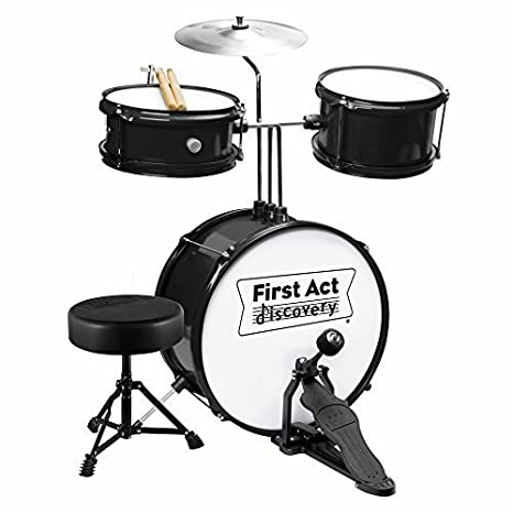Amazon.com: First Act Discovery Junior Drum Set - Black: Musical ...