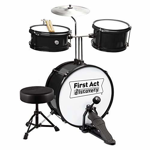 First Act Discovery Junior Drum Set - Black