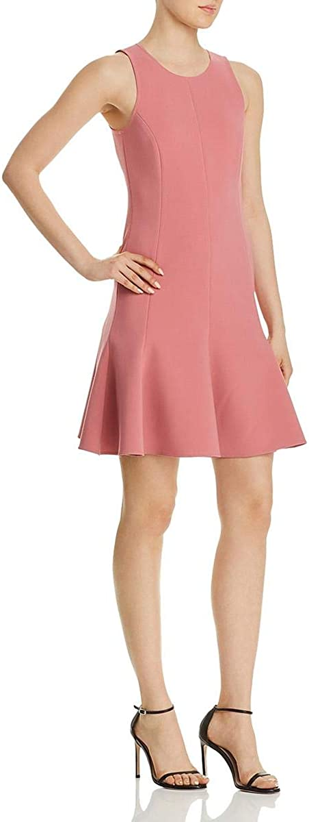 Elizabeth and James Womens Bristol Seamed Flute Mini Dress