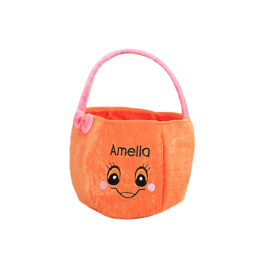 Halloween Bags for Trick Or Treat Kids Gift Candies Bags Amusing Fluffy Bags Tote Bags Festival Sugar Bag (C)