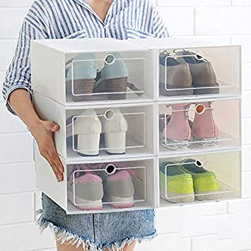Amazon.com: 1 caja de almacenamiento de zapatos ecológica ...