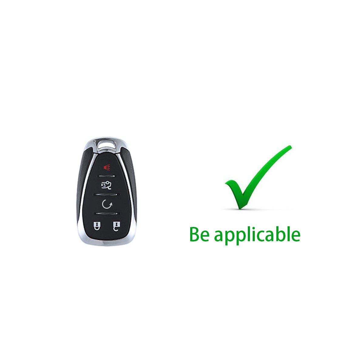 Coolbestda 2Pcs Silicone 6 Buttons Smart Key Remote Fob Cover Case Keyless Jacket Protector for 2014 2015 2016 Honda Odyssey EXL KR5V1X Black Blue 4350450495