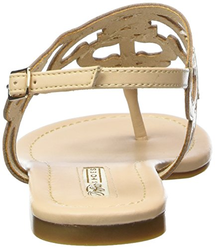BUFFALO 15bu0213 Leather Pu - Sandalias de dedo Mujer Beige - Beige (NUDE 01)