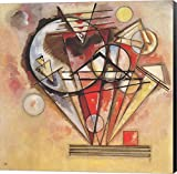On Points, 1928 by Wassily Kandinsky Canvas Art Wall Picture, Museum Wrapped with Black Sides and sold by Great Art Now, size 24x24 inches. This canvas artwork is popular in our Abstract Art, Modern Art, Art by Venue, Office Art, and Modern Office Ar...