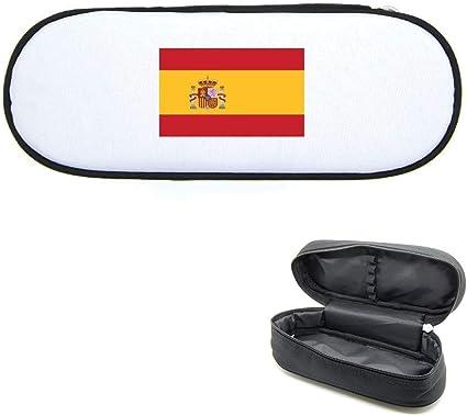 Estuche para lápices, diseño de bandera España: Amazon.es: Oficina y papelería