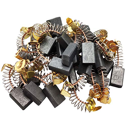 Sipery 30Pcs Spring Carbon Brush 17x10x6mm Angle Grinder Carbon Brushes 103# Replacement for Electric Rotary Motor Tool