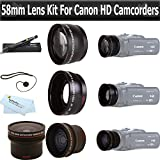 ButterflyPhoto Essentials Lens Kit For Canon Vixia HF G20, HF G30, HF G40 HD Camcorder Includes .16x HD Super Wide Fisheye Lens + 2x Telephoto HD Lens + .45x Wide Angle Macro HD Lens + More