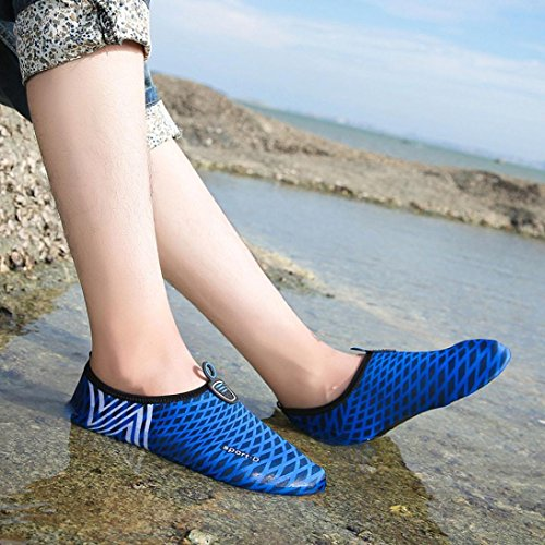 Beach Swim Socks Aqua Shoes Exercise for Water Surf Women Blue Men Dark Yoga Barefoot Kids Dry WYXlink Driving Quick Shoes 7FRO8wxq