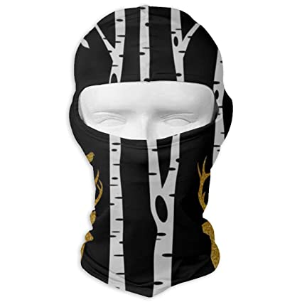 Balaclava Winter Forest Tree Elk Full Face Masks UV Protection Ski Hat Mens Headwear for Motorcycle