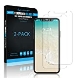 iPhone X Tempered Glass Screen Protector, LUVVITT [2 Pack] TEMPERED GLASS Screen Protector for Apple iPhone X 10 (2017) - Crystal Clear