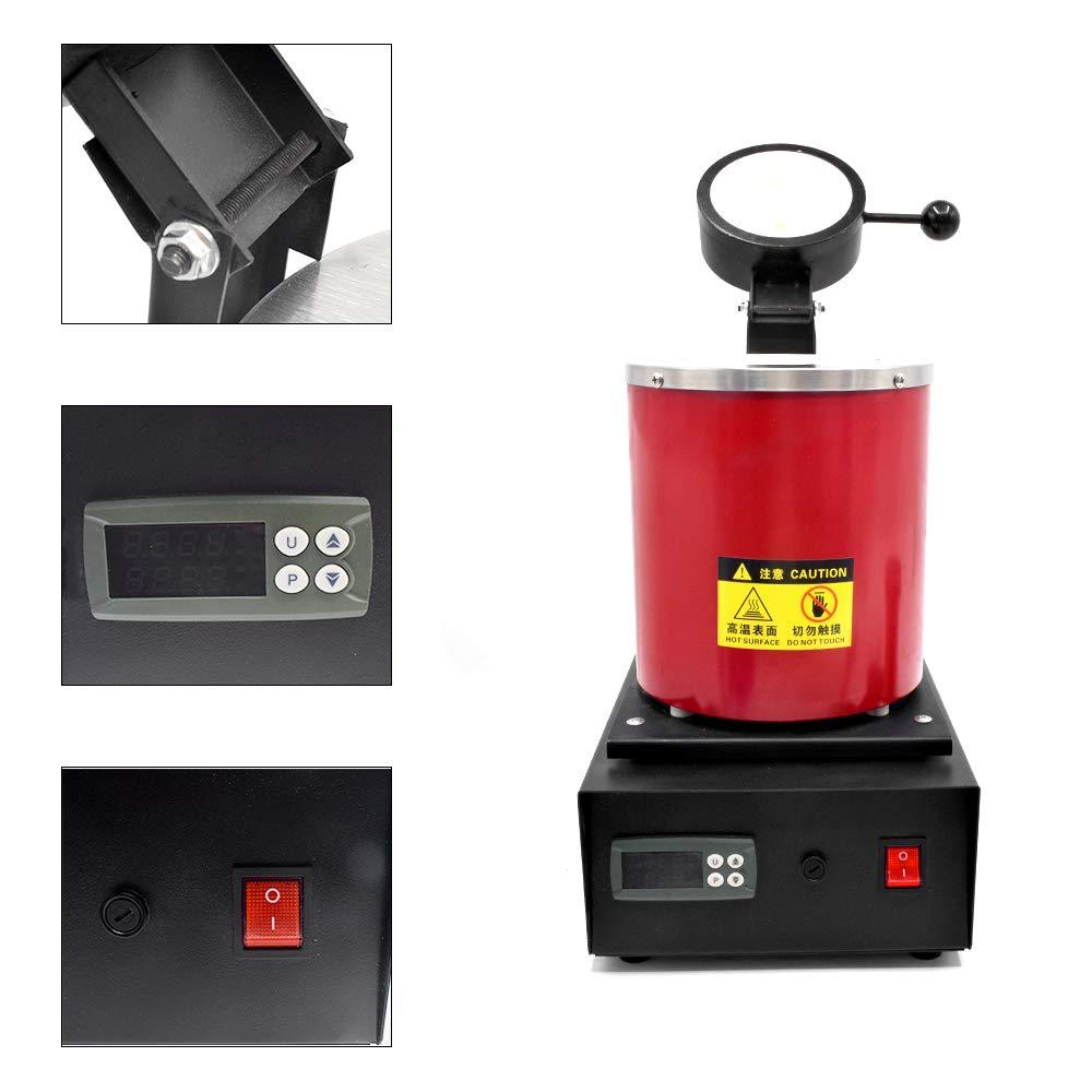 Gold Melting Furnace 1400W Metal Melting Forging Furnace 1KG Digital Melting Furnace Machine 110V Melting Furnace Tool,US Stock