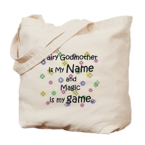 Faerie Made Natural - CafePress - Fairy Godmother Name - Natural Canvas Tote Bag, Cloth Shopping Bag