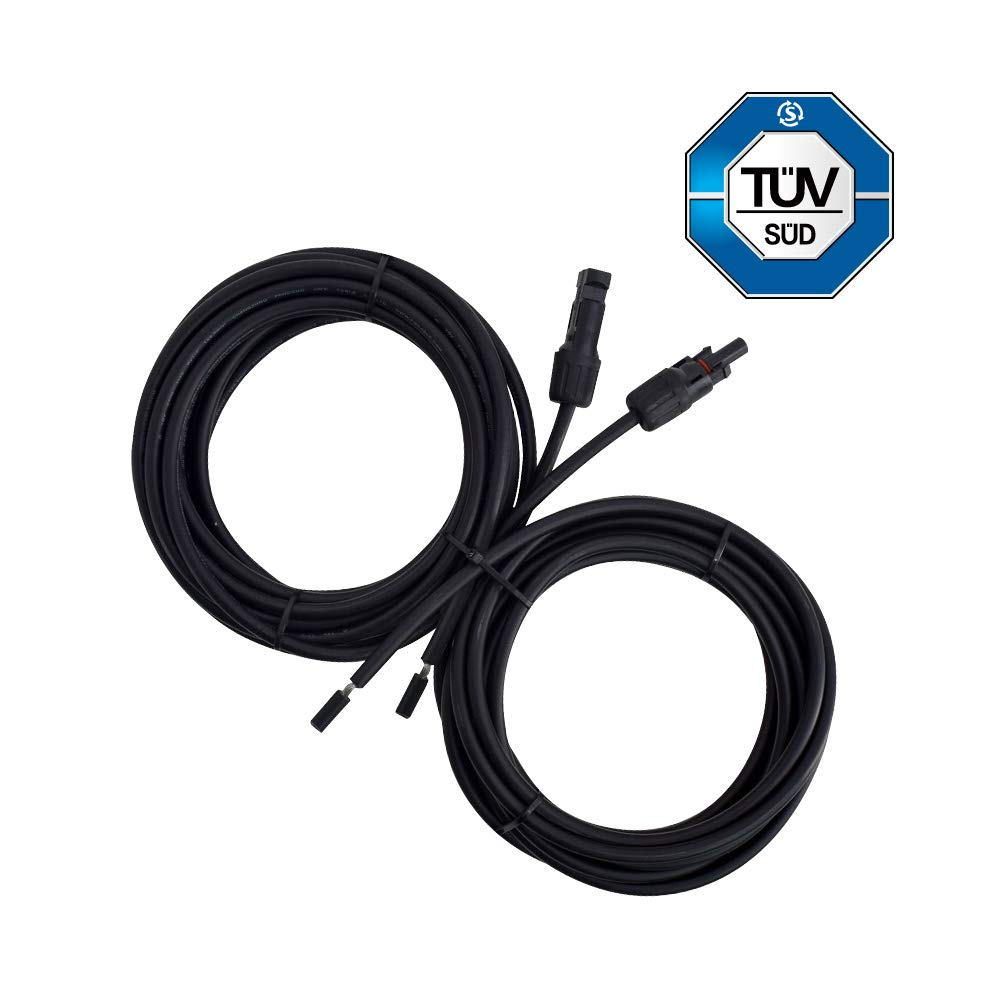 Renogy 20Ft 10 AWG Solar Panel and Controller Connector Adaptor Wire MC4 Extension Cables by Renogy