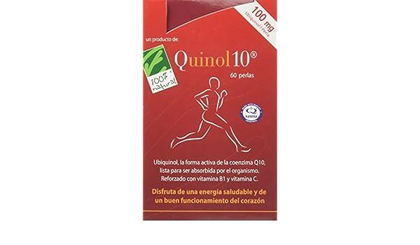100% natural Quinol10 Vitaminas - 60 Cápsulas: Amazon.es: Salud y cuidado personal