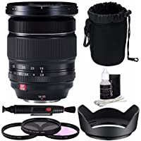 Fujifilm XF 16-55mm f/2.8 R LM WR Lens + 77mm 3 Piece Filter Set (UV, CPL, FL) Bundle 1