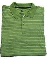 Izod Men's Polo Golf Shirt Size Large Green Short Sleeve