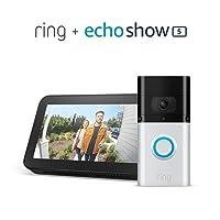 Ring Video Doorbell 3 Plus with Amazon Echo Show 5