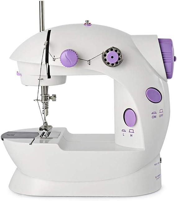 Máquina de coser portátil mini ajustable eléctrica de 2 ...