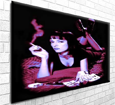 Pulp Fiction Uma Thurman Box Canvas Art Print