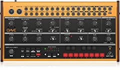 Analog semi-modular synthesizer with 3340 VCO, classic ladder filter, 32-Step sequencer and 16-voice poly Chain.