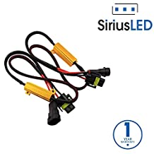 SiriusLED H11 H8 H9 50W 6 Ohm LED Lights Load Resistor Adapter Fix Hyper Flashing Blinking Canbus Error Warning Canceller for Fog Lights Daytime Running DRL Driving