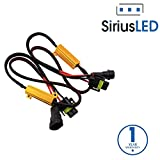 SiriusLED 9005 H10 9145 50W 6 Ohm LED Lights Load Resistor Adapter Fix Hyper Flashing Blinking Canbus Error Warning Canceller for Fog Lights Daytime Running DRL Driving