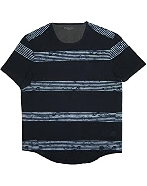 Calvin Klein Jeans Men's Whirl Stripe Short Sleeve Tee, Riveria, Large