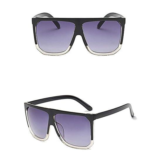 78b3c95a4b5d Retro Big Square Frame Sunglasses for Women and Men, DEATU Vintage  Polarized Sun Glasses Unisex Vogue(B,One size): Clothing