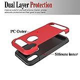GreenElec Rugged Armor iPhone X Case Carbon Fiber