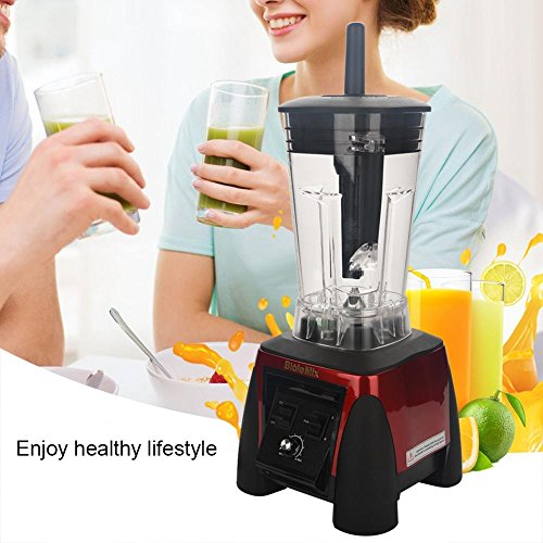 Juicer 2200W Electronic Commercial Blender Food Processor Mixer Smoothie Machine (US Plug 110V-Red) by Aramox (Image #2)