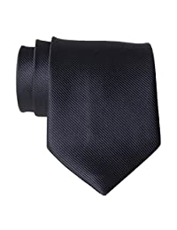 New Polyester Textile High Quality Men's Neckties Black Solid Color Neck Tie
