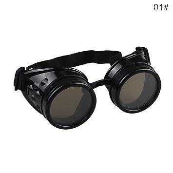 ddellk Gafas Steampunk, Gafas Vintage de Moda Punk para soldar Cosplay Gafas de Sol a Prueba de Viento Unisex: Amazon.es: Deportes y aire libre